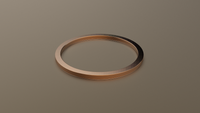 Brushed Rose Gold 1mm Flat Wedding Band