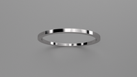 Polished Sterling Silver 1mm Flat Wedding Band