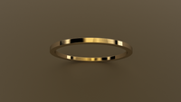 Polished Yellow Gold 1mm Flat Wedding Band