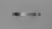 Brushed Sterling Silver 2mm Flat Wedding Band