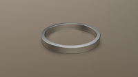 Brushed White Gold 2mm Flat Wedding Band