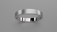 Brushed Sterling Silver 3mm Flat Wedding Band