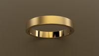 Brushed Yellow Gold 3mm Flat Wedding Band