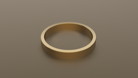 Polished Yellow Gold 3mm Flat Wedding Band