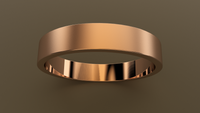 Brushed Rose Gold 4mm Flat Wedding Band