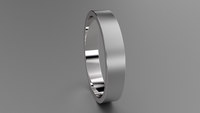 Brushed Sterling Silver 4mm Flat Wedding Band