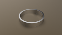 Polished White Gold 4mm Flat Wedding Band