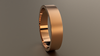 Brushed Rose Gold 5mm Flat Wedding Band