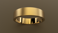 Brushed Yellow Gold 5mm Flat Wedding Band