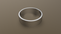 Hammered White Gold 6mm Flat Wedding Band