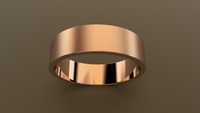 Brushed Rose Gold 6mm Flat Wedding Band