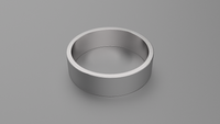 Brushed Sterling Silver 6mm Flat Wedding Band