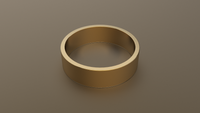 Brushed Yellow Gold 6mm Flat Wedding Band
