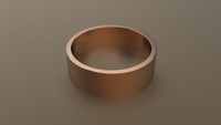 Polished Rose Gold 7mm Flat Wedding Band