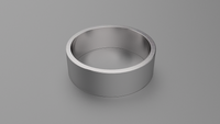 Brushed Sterling Silver 7mm Flat Wedding Band