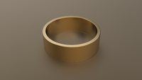 Brushed Yellow Gold 7mm Flat Wedding Band