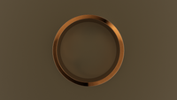 Brushed Rose Gold 8mm Flat Wedding Band