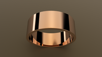 Polished Rose Gold 8mm Flat Wedding Band