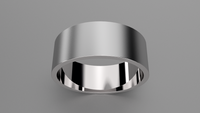 Brushed Sterling Silver 8mm Flat Wedding Band