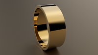 Polished Yellow Gold 8mm Flat Wedding Band