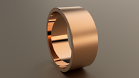Brushed Rose Gold 9mm Flat Wedding Band
