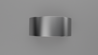 Brushed Sterling Silver 9mm Flat Wedding Band