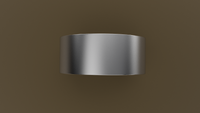 Brushed White Gold 9mm Flat Wedding Band