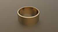 Polished Yellow Gold 9mm Flat Wedding Band