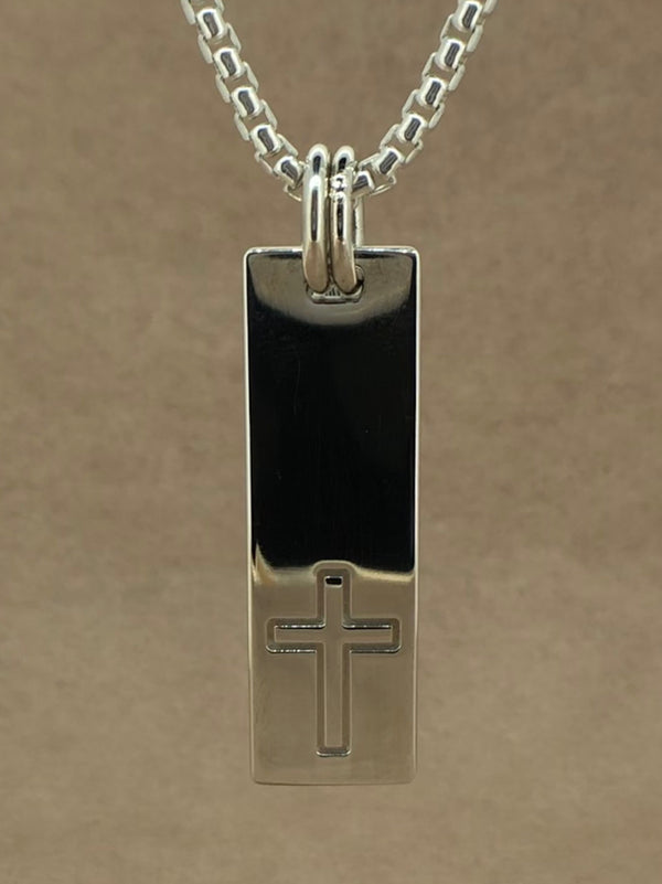 Set Your Bar Sterling Silver Cross