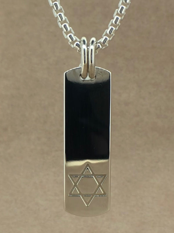 Set Your Bar Sterling Silver Star of David