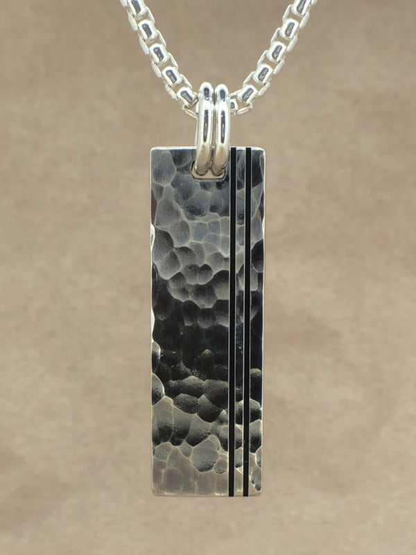 Set Your Bar Sterling Silver Hammered with Grooves