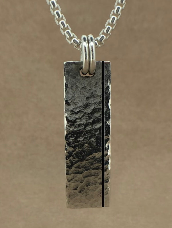 Set Your Bar Sterling Silver Hammered with Groove