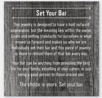 Set Your Bar Sterling Silver with Border
