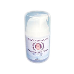 Ona's Natural Progesterone 10% Cream - 1.7 oz/56 ml pump - Concentrated