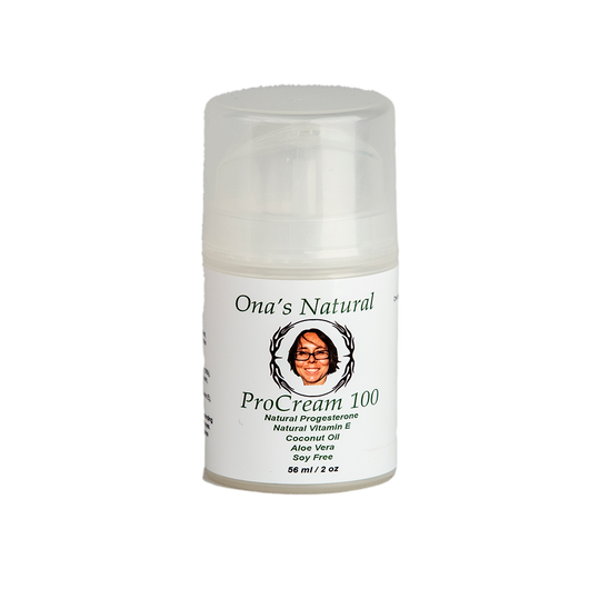 Ona's ProCream 100 -  2 oz/56 ml pump - 10% Natural Progesterone