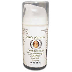 Ona's Procream 30 - 3.5 oz pump - 3% Natural Progesterone