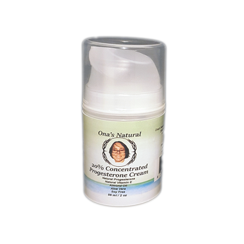 Ona's Natural Progesterone Cream - 20% - 2 oz pump