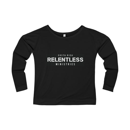 Relentless Ministries Women's Terry Long Sleeve Scoopneck T-Shirt