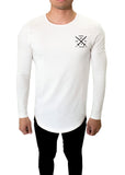 JSUR LONG SLEEVE SCOOP SHIRT (WHITE) - JSUR