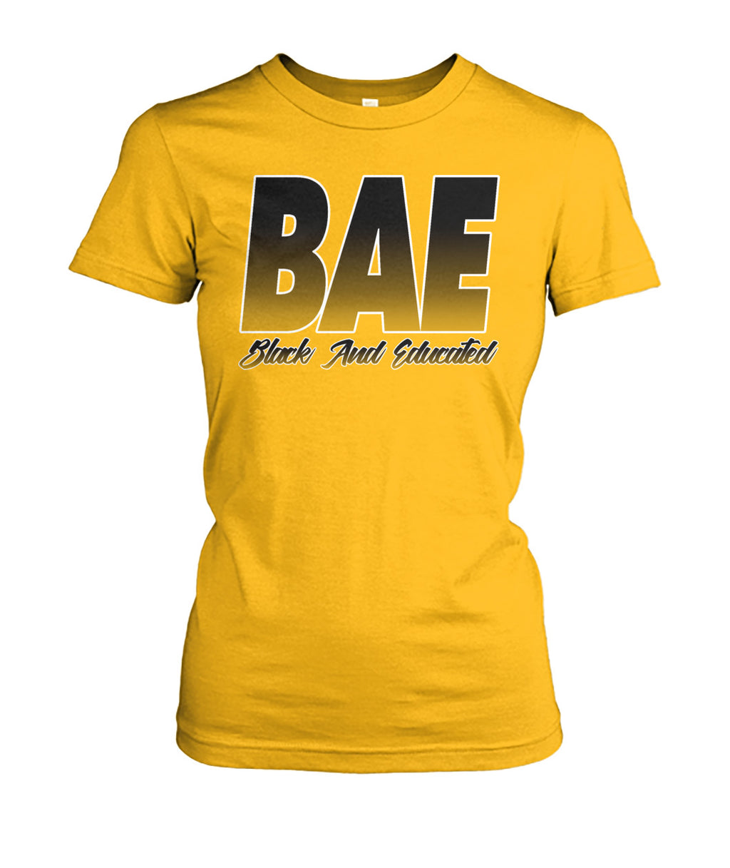 Black and Educated- Grambling Edition Women's Crew Tee