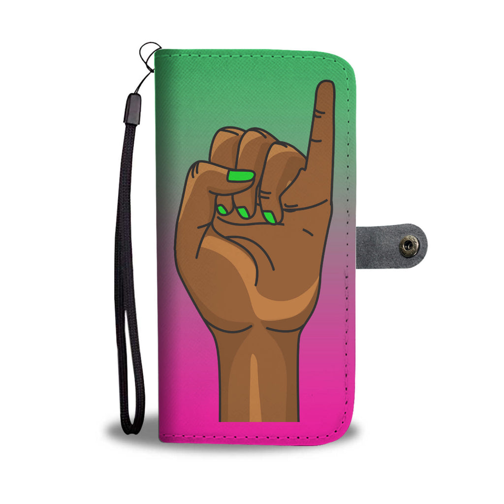 Pinky Up Wallet Case