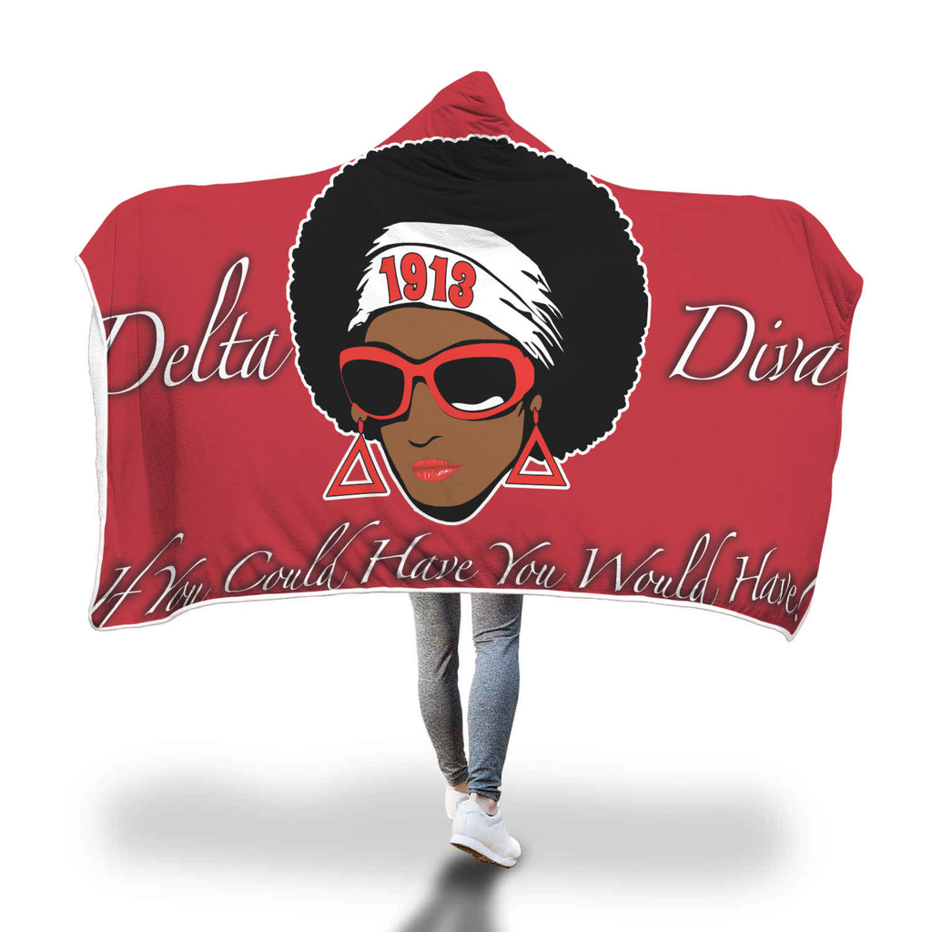 Afro Delta Hooded Blanket