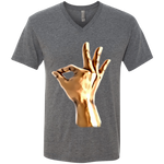1911 Art hands Men's Triblend V-Neck T-Shirt