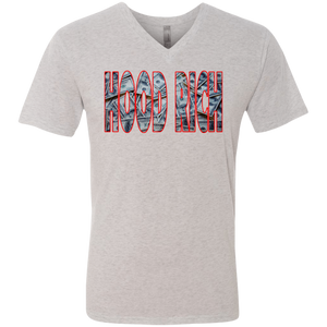 Hood Rich Men's Triblend V-Neck T-Shirt