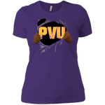 PVU Ripped Gold Boyfriend T-Shirt ( Slim FIt)