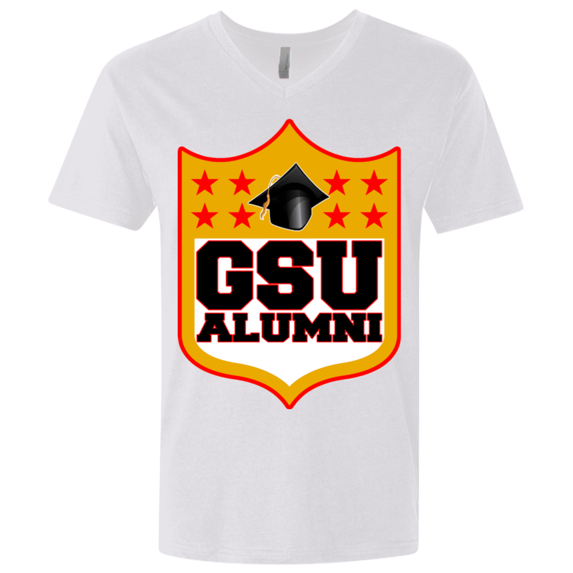 GSU Shield Premium Fitted SS V-Neck