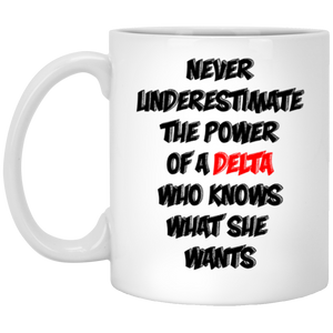 Delta Power 11 oz. White Mug