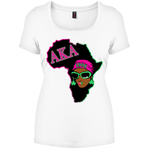 Africa AKA-B Perfect Scoop Neck Tee