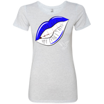 Zeta Lips Dove Triblend T-Shirt