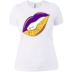 Purple and Gold Lips Slim Fit